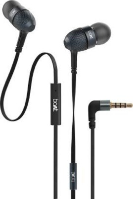 boAt Bassheads 225 / Bassheads 200 Wired Headset(Black, In the Ear)