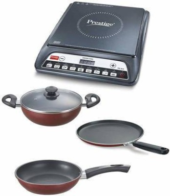 Prestige 12501 Induction Cooktop(Black, Touch Panel)