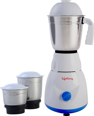 Lifelong Power Pro - LLMG20 500 W Mixer Grinder(Blue, 3 Jars)