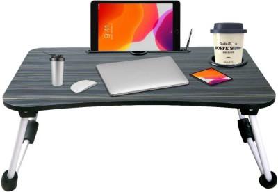 TNV ENTERPRISE MATT BLACK Wood Portable Laptop Table(Finish Color -...