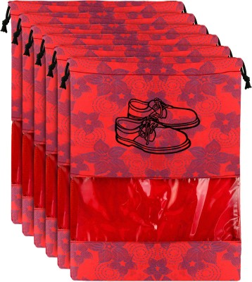 KUBER INDUSTRIES Shoe Pouch Red KUBER INDUSTRIES Travel Pouches