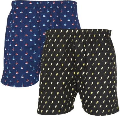 XYXX Super Combed Cotton Printed Men Boxer(Pack of 2)