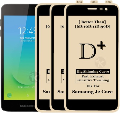 Kreatick Tempered Glass Guard for Samsung Galaxy J2 Core(Pack of 3)