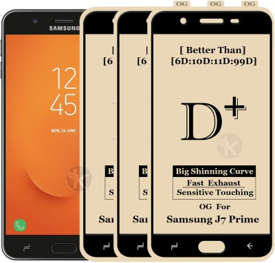 Kreatick Tempered Glass Guard for Samsung Galaxy J7 Prime(Pack of 3)