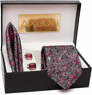 AXLON Satin Tie & Cufflink(Multicolor)