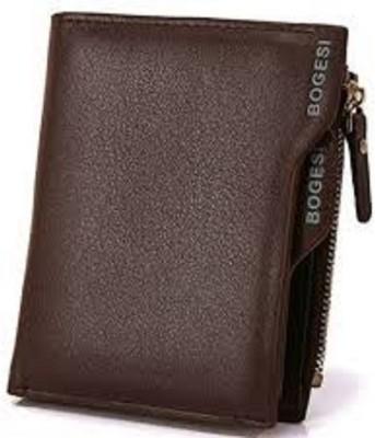Bogesi Men Brown Genuine Leather Card Holder 7 Card Slots