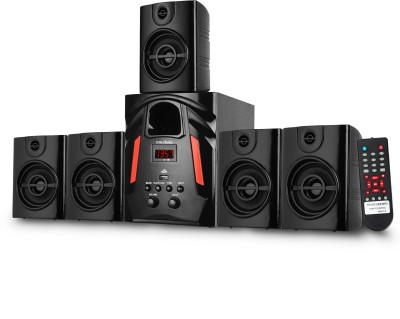 KRISONS Genius-50 Multimedia Speaker | App Controlled, Bluetooth Supporting Home Theatre 5.1 | USB, AUX, LCD Display, Built-in FM, Recording,...