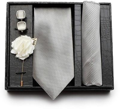 AXLON Satin Tie & Cufflink(Grey)