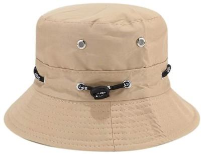 ZACHARIAS Fishermen Bucket Cap Hat(Beige, Pack of 1)