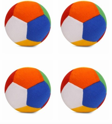Deals India Soft Toy Ball Set of 4   4 inch Multicolor Deals India Soft Toys