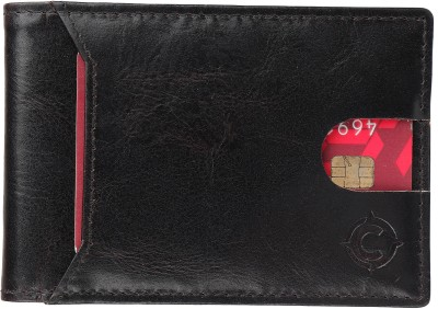 cotnis Men Black Genuine Leather Wallet 10 Card Slots