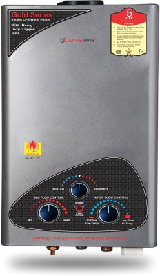 LONGWAY 7 L Gas Water Geyser (XOLO GOLD DLX, Silver)