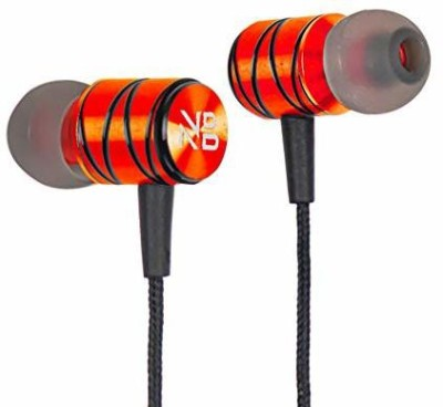 Noizzy Box Wired in-Ear Headphones with Mic Wired Headset(Orange::Black, In the Ear)