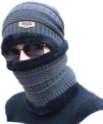 HUNTSMANS ERA Cap Winter woolen beanie cap, neck scarf Cap