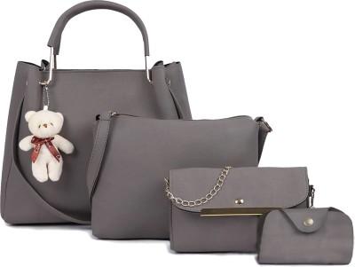 Fargo Women Grey Hand-held Bag(Pack of: 4)