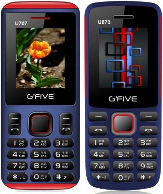 Gfive U707 & U873 Combo of Two mobiles(Blue : Blue)