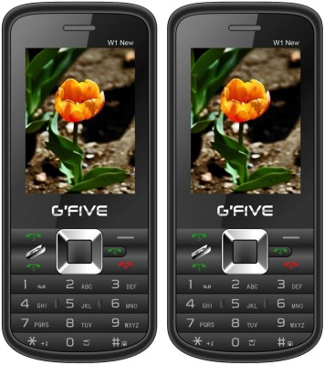Gfive W1 New Combo of Two Mobiles(Black : Black)