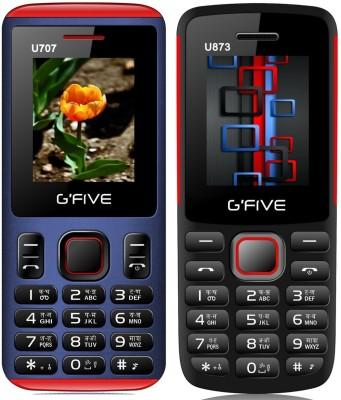 Gfive U707 & U873 Combo of Two mobiles(Blue : Black)