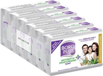 Boroplus Antiseptic + Moisturising Soap - Neem, Eucalyptus & Honey (Pack of 6) (6 x 125 g)