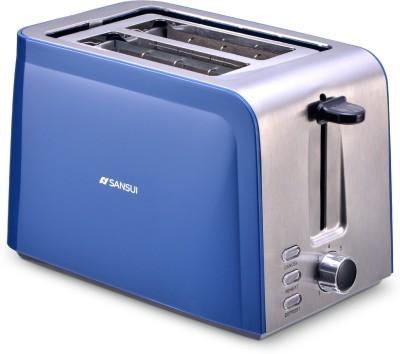 Sansui Prima 2 Slice 800 W Pop Up Toaster(Sky Blue, Chrome)