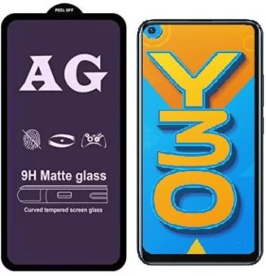 S-Hardline Edge To Edge Tempered Glass for Vivo Y30(Pack of 1)