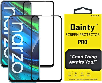 Dainty Edge To Edge Tempered Glass for Realme 7, Realme 7i, Realme Narzo 20 Pro, Realme 6, Realme 6i(Pack of 2)