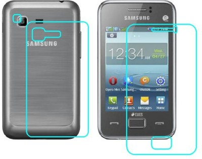 BPD Front and Back Tempered Glass for SAMSUNG REX 80(Pack of 3)