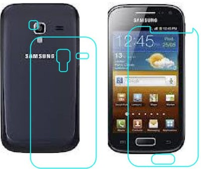 RVK Front and Back Tempered Glass for SAMSUNG GALAXY ACE DUOS(Pack of 2)