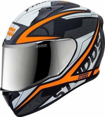 Studds HELMET THUNDER D4 MATT BLACK N10 ORANGE Motorbike Helmet(Black)
