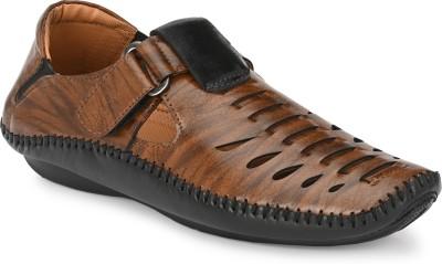 TOP CHOICE Men Brown, Black Sandals