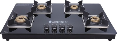 Wonderchef Glass Manual Gas Stove(4 Burners)