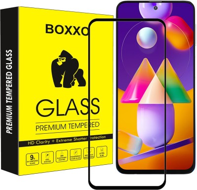 Boxxo Edge To Edge Tempered Glass for Samsung Galaxy M31s(Pack of 1)