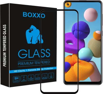 Boxxo Edge To Edge Tempered Glass for Samsung Galaxy A21s(Pack of 1)