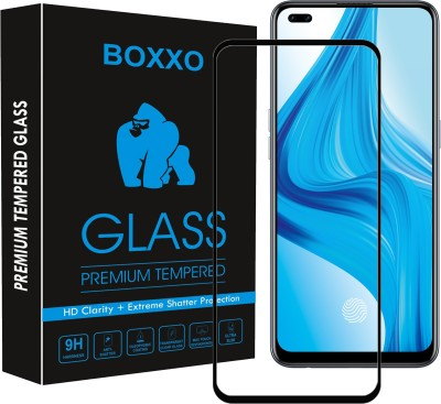 Boxxo Edge To Edge Tempered Glass for Oppo F17 Pro(Pack of 1)