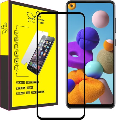 Efficia Edge To Edge Tempered Glass for Samsung Galaxy A21s(Pack of 1)