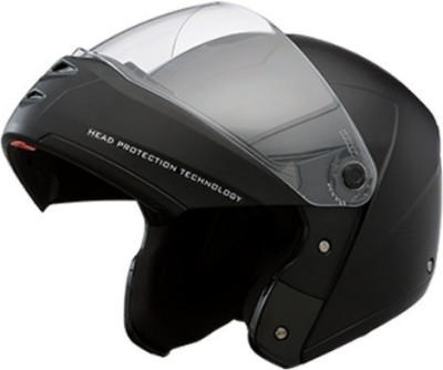 Studds Ninja Elite with Murcury Visor Motorsports Helmet(Black with Carbon Center Strip)