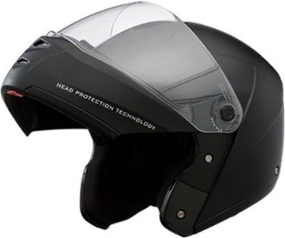 STUDDS Ninja Elite with Murcury Visor Motorsports Helmet(Black with Carbon Center Strip)