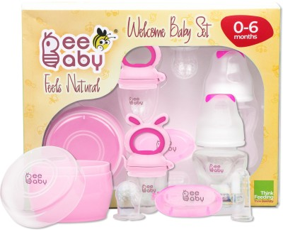 Beebaby Welcome Baby Gift Set For New Born Baby, Pink(Set of 1)
