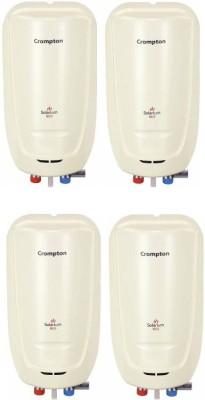 Crompton 3 L Instant Water Geyser (Solarium Neo Pack of 4, Ivory)