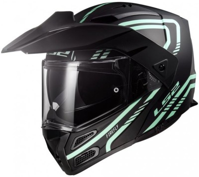 LS2 FF324 Motorbike Helmet(White, Black)