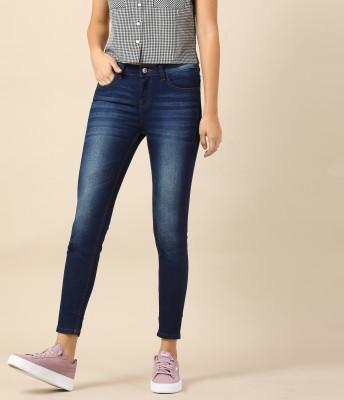 Herway Skinny Women Dark Blue Jeans