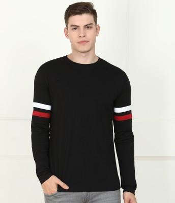 Billion Solid Men Round Neck Black T-Shirt