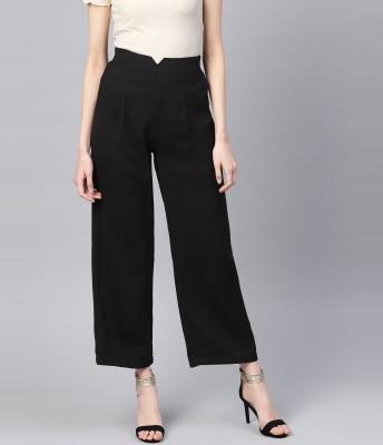 SASSAFRAS Regular Fit Women Black Trousers