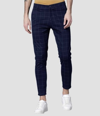 FUBAR Slim Fit Men Blue Trousers