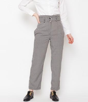 Popnetic Regular Fit Women Black Trousers