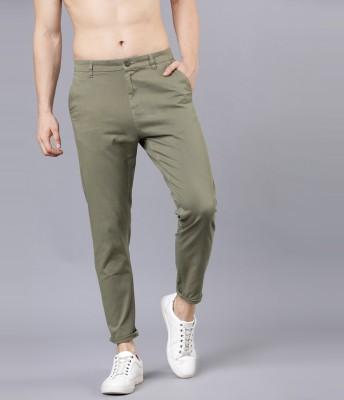 Highlander Slim Fit Men Green Trousers