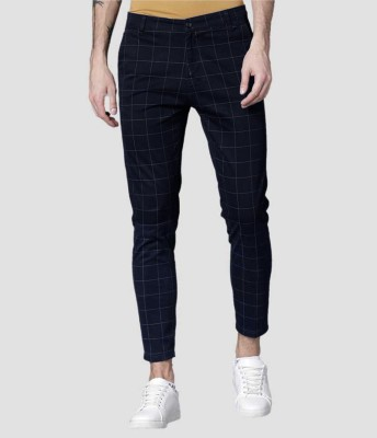 FUBAR Slim Fit Men Black Trousers