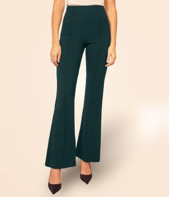 Addyvero Regular Fit Women Green Trousers