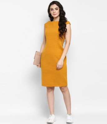 Zima leto Women Bandage Yellow Dress