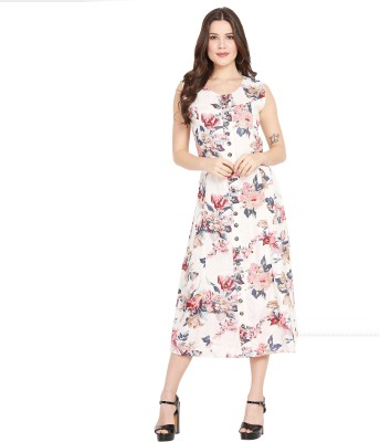 J&G FASHION Women A-line Multicolor Dress